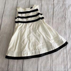 Baby gap black/white dress